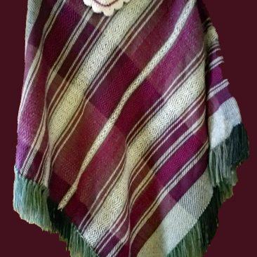 Alpaca Wool/Acrylic Blend Poncho $150