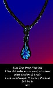 Blue Tear Drop Necklace