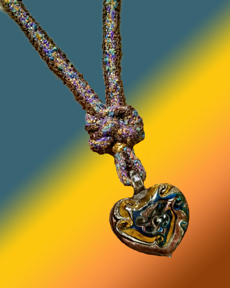 Heart of Gold Necklace-closeup