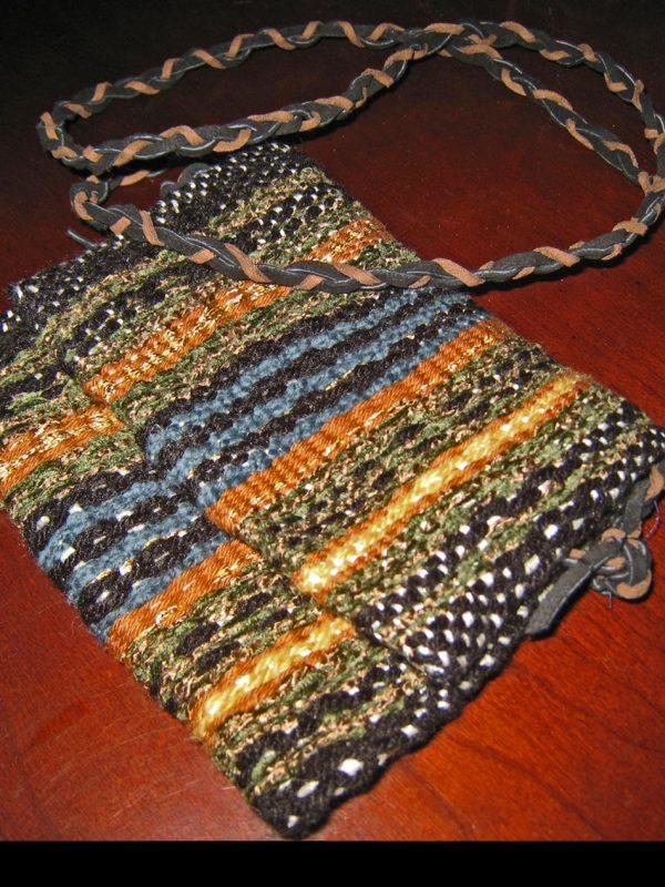 Small Metallic Thread Purse, lined