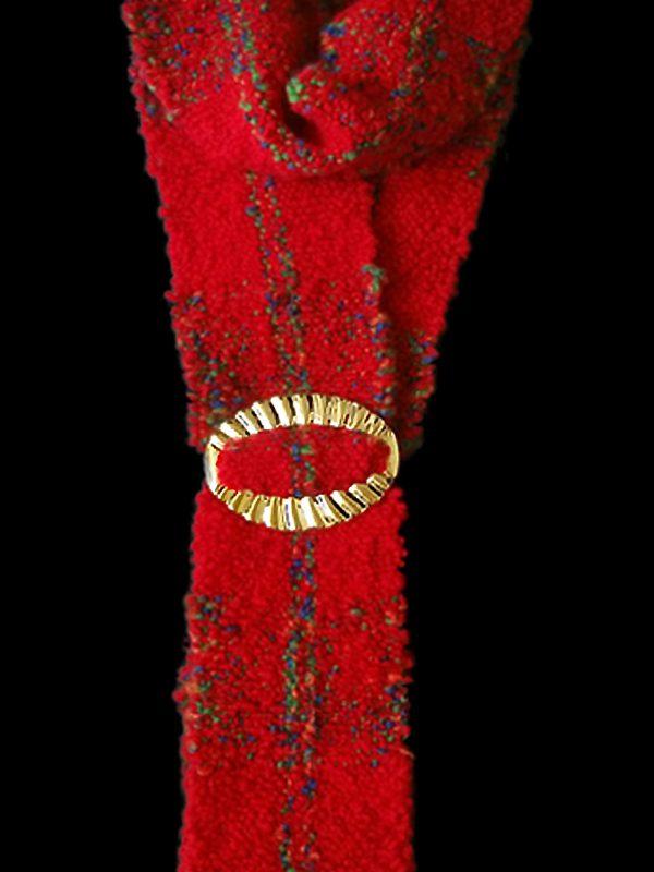 Woven Winter Neck Wrap-closeup